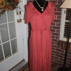 Liz Lange Maternity Rose Maxi Dress Wrap Skirt MED